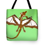 Mom And Child Dragons Tote Bag