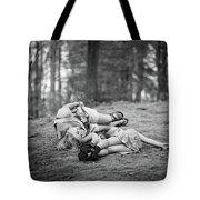 Mom And Daughter Tote Bag