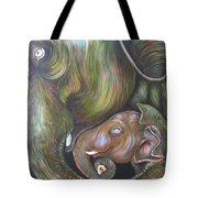 Mom And Kid Tote Bag