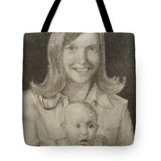Mom And Sister Portrait Tote Bag
