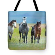 Mom, Dad, And Two Colts Tote Bag