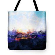 Moment In Blue Spaces Tote Bag