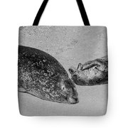 Momma And Baby  Black And White Tote Bag