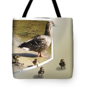 Momma And Her Babies Tote Bag