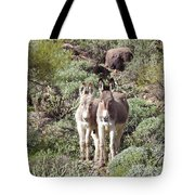 Mommy And Baby Burro Tote Bag