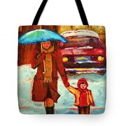Moms Blue Umbrella Tote Bag