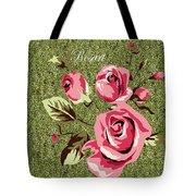 Mom's Day Elegance Vintage Rose Tote Bag