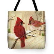 Mom's Favorite Redbirds Tote Bag