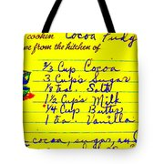 Moms Old Recipe Tote Bag