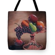 Mom's Pink Dish With Fruit Tote Bag