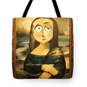 Mona In A Guilded Frame Tote Bag