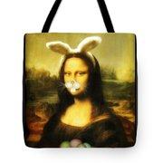 Mona Lisa Bunny Tote Bag