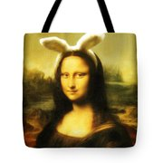 Mona Lisa Easter Bunny Tote Bag