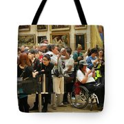 Mona Lisa Reflected Tote Bag