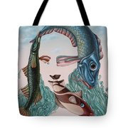 Mona Lisa. Water Tote Bag
