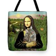 Mona Lisas Norwegian Forest Cat Tote Bag