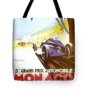 Monaco 5 Grand Prix 1933 Tote Bag