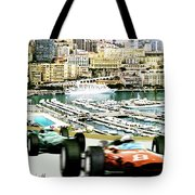 Monaco Grand Prix Racing Poster - Original Art Work Tote Bag