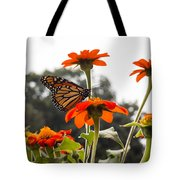 Monacrch Butterfly On A Flower Tote Bag