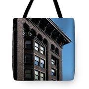 Monadnock Building Cornice Chicago B W Tote Bag