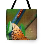 Monarch And Caterpillar Tote Bag