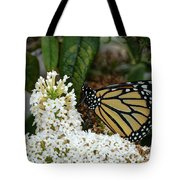 Monarch And The Butterfly Bush  Tote Bag
