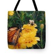 #002 Monarch Bumble Bee Sharing Tote Bag