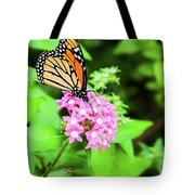 Monarch Butterfly And Honey Bee Tote Bag