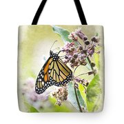 Monarch Butterfly Blank Note Card Tote Bag
