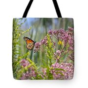 Monarch Butterfly In Joe Pye Weed Tote Bag