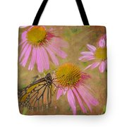 Monarch Butterfly In Pink Tote Bag