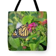 Monarch Butterfly On A Flower  Tote Bag