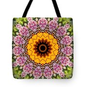 Monarch Butterfly On Milkweed Kaleidoscope Tote Bag