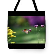 Monarch In Fall Garden 2011 Tote Bag