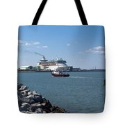 Monarch Of The Seas At Port Canaveral In Florida Tote Bag