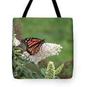 Monarch On A Butterfly Bush Tote Bag