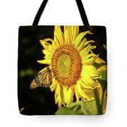 Monarch On A Sunflower Tote Bag
