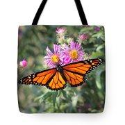 Monarch On Blanket Flower Tote Bag