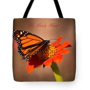 Monarch On Tithonia Mother's Day Gifts Tote Bag
