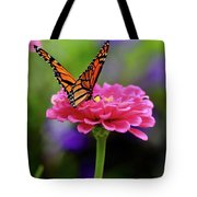 Monarch On Zinnia 3 Tote Bag