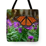 Monarch Spreading Its Wings Tote Bag