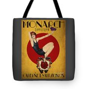 Monarch Wine A Vintage Style Ad Tote Bag by Cinema Photography