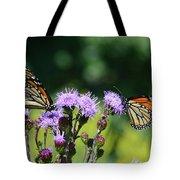 Monarchs And Blazing Star Tote Bag