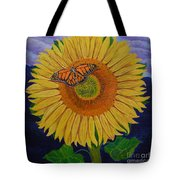 Monarch's Sunflower Tote Bag