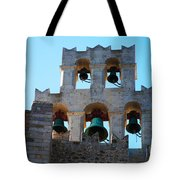 Monastery Bell Tower On Patmos Island Greece Tote Bag