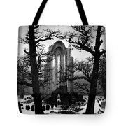 Monastery Graveyard In The Snow Cdf Tote Bag