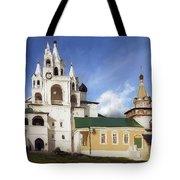 Monastery In Zvenigorod, Russia Tote Bag