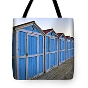 Mondello Beach Cabanas Tote Bag