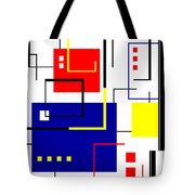 Mondrian Redux Tote Bag by Tara Hutton