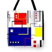Mondrian Redux Tote Bag